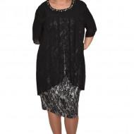 Rochie eleganta Kayla cu aplicatii de margele,nuanta de negru