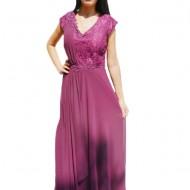 Rochie lunga ,eleganta de culoare mov