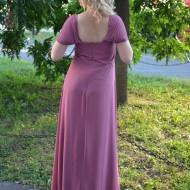 Rochie lunga pasionala de culoare plamaniu