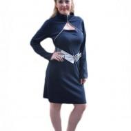 Rochie moderna, de culoare bleumarin, design deosebit
