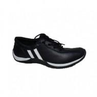 Adidas in nuanta de negru-alb, inchidere cu siret chic
