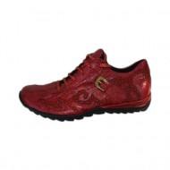 Adidas sport rosu din piele naturala cu talpa joasa, confortabila