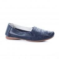 Balerin bleumarin cu perforatii trendy si talpa joasa, confortabila