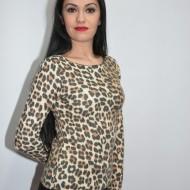 Bluza de zi cu design animal-print