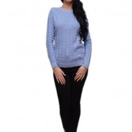 Bluza deosebita cu model fin, realizata din material tricotat subtire