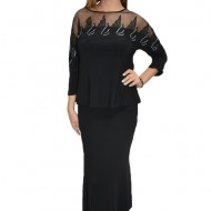 Bluza eleganta office ,model desebit ,nuanta negru