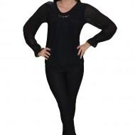 Bluza moderna, tinereasca, nuanta de negru, cu maneca lunga