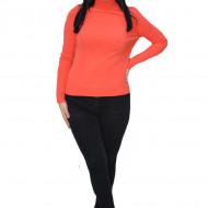 Bluza tip maleta Sofia ,model din tricot 3D,impletit,portocaliu