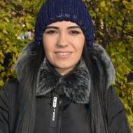 Caciula simpla de iarna, culoare bleumarin cu design argintiu