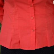 Camasa casual, rosie, din material de calitate cu maneca lunga