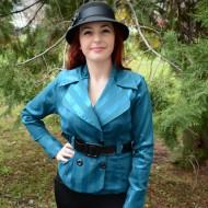 Camasa deosebita, nuanta de albastru, accesorizata cu curea lata