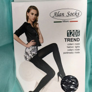 Ciorap de dama cu model deosebit, culoare neagra si 120 DEN