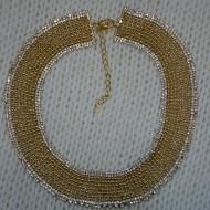 Colier fashion cu design elegant, din margele si cristale colorate