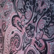 Esarfa fashion, dreptunghiulara, imprimeu deosebit roz si negru