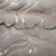 Fular calduros Dave cu insertii de paiete,model circular,nuanta de maro deschis