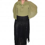 Fusta eleganta, lejera, cu aspect asimetric, de culoare neagra