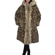 Jacheta animal print,din lana cu captusala subtire