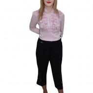 Pantalon de zi, nuanta de negru, detalii fine in partea de jos