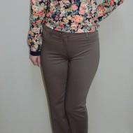 Pantalon elegant, nuanta de nisipiu si croiala moderna