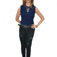 Pantaloni dama Mali cu design rafinat,nuanta de negru