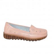 Pantofi perforati cu model si talpa deosebita,roz