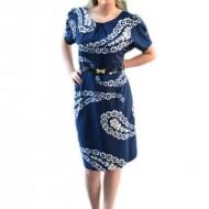 Rochie casual din material subtire de culoare bleumarin