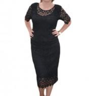 Rochie de ocazie, de culoare neagra, confectionata din dantela