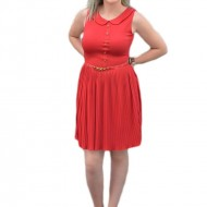 Rochie de primavara-vara, lejera, tinereasca. de culoare rosie