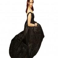Rochie de seara lunga ,nuanta de negru