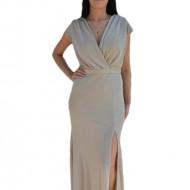 Rochie de seara ,model lung de culoare bej