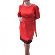 Rochie deosebita de culoare rosie, model elegant, masura mare
