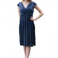 Rochie eleganta Caliope,aplicatii de margele,nuanta de bleumarin