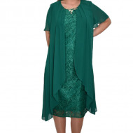 Rochie eleganta Caroline din voal ,nuanta de verde