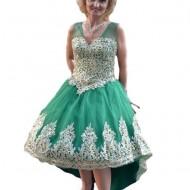 Rochie eleganta cu cerc in partea de jos, greenery cu broderie