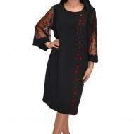 Rochie eleganta ,imprimeu cu buline ,nuanta neagra