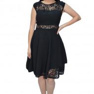 Rochie eleganta Lotte cu dantela ,nuanta de negru
