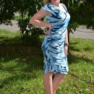 Rochie eleganta , pentru dame , culoare albastra RO-1201-AL