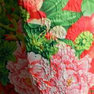 Rochie feminina, imprimeu floral pe tonuri de verde si albastru