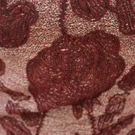 Rochie moderna cu croiala lejera si imprimeu floral marsala