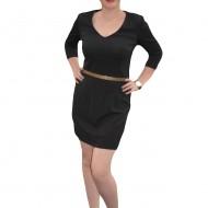 Rochie mulata, de culoare neagra, cu o curea in talie