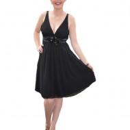 Rochie rafinata neagra, ideala pentru ocazii speciale, model simplu