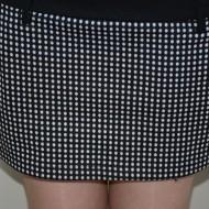 Rochie tinereasca, bicolora, alb-negru cu guler rulat