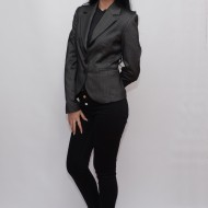 Sacou modern, tineresc, cu dungi sau simplu, de culoare negru, gri