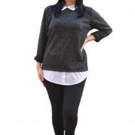Bluza Ania casual-bussines din tricot ,nuanta de negru