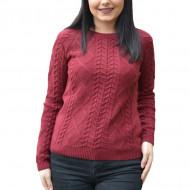 Bluza casual tricotata,model clasic,nuanta de marsala