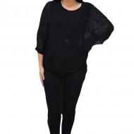 Bluza eleganta cu aplicatii deosebite Dakota,nuanta de negru