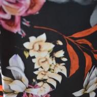 Bluza Lucia cu imprimeu nature pe fond negru