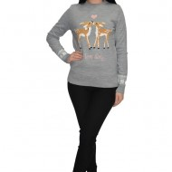 Bluza tricotata Love Story cu insertii de margele ,nuanta de gri