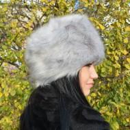 Caciula eleganta de dama, de blana fina, culoare gri deschis