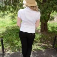 Camasi cu maneca scurta, elegante din saten lucios